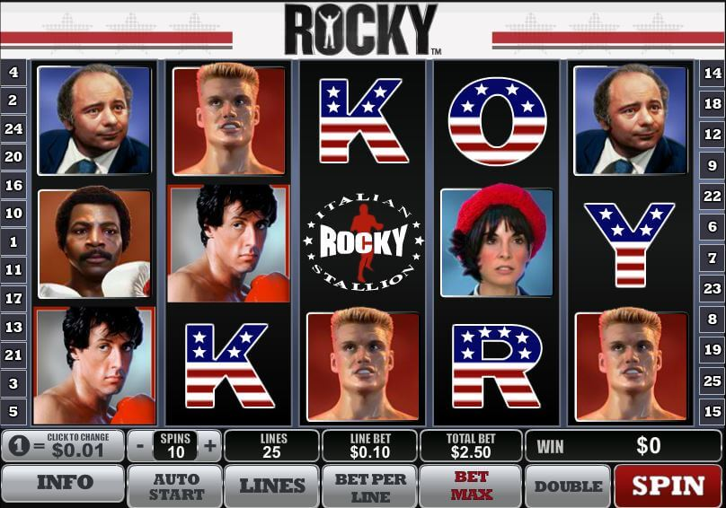 rocky kolikkopeli