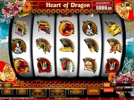 heart of dragon kolikkopeli