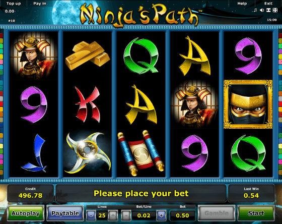 ninjas path kolikkopeli