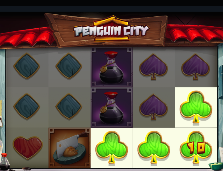 Penguin City on uskomaton kolikkopeli