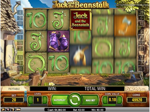 jack and the beanstalk slot in-game view