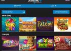 Diamond 7 Casino Review – 100% Match Bonus on Sign Up screen