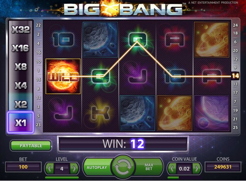 bigbang slot in-play view