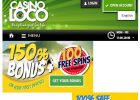Casino Loco Review – Welcome Bonus up to £150 screen