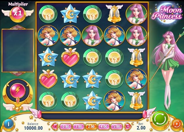 sailor moon slots game play