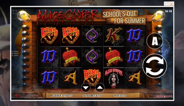 alice cooper slot in-game view