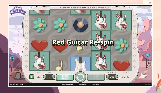 jimi hendrix slot in-game view