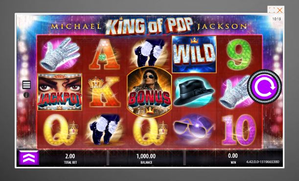 michael jackson slot in-game view