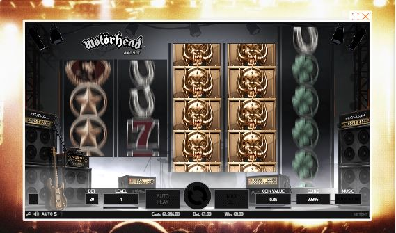 motörhead slot in-game view