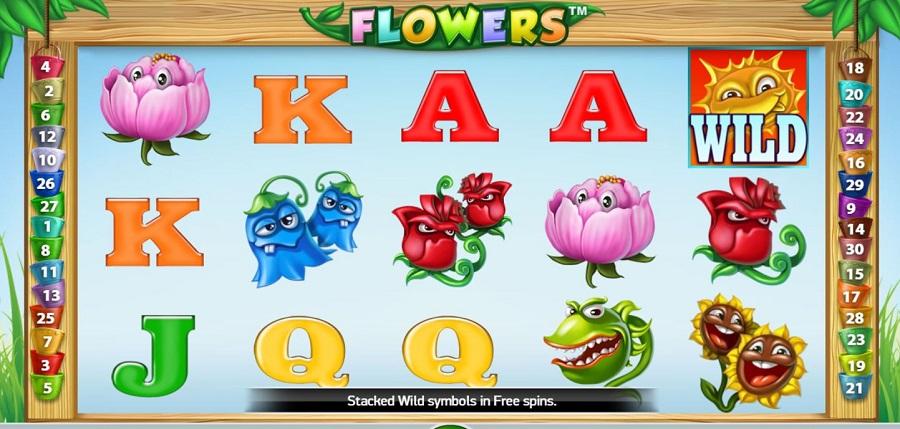 Flowers Slot Symbols