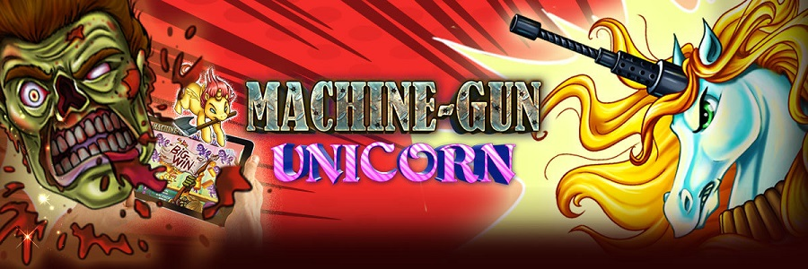 weird slot machine gun unicorn