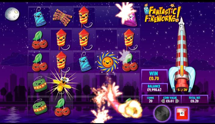 Fantastic Fireworks Free spins