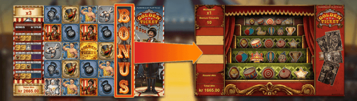 golden ticket bonus game
