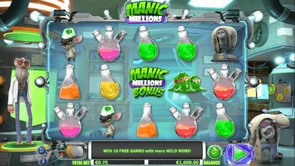manic millions slot
