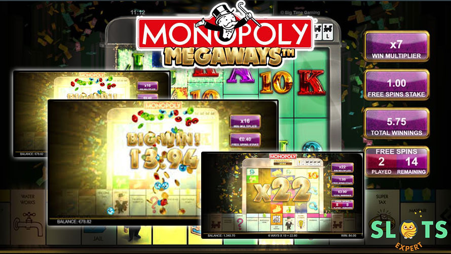 monopoly megaways slots