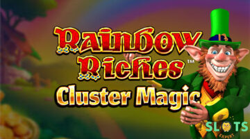 Find Luck in the rolling Hills of Rainbow Riches Cluster Magic slot game